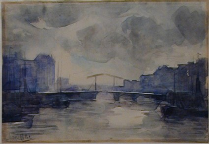 Harbour Scene with Bridge
