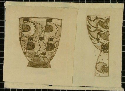 Design for a high-waisted vase