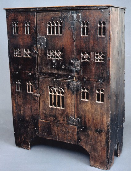 Boarded press or aumbry
