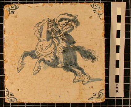 Tile with horseman