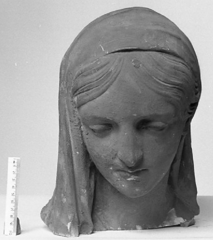 Statue of Lady Frederica Louisa Stanhope (1800-23), fragment, head only