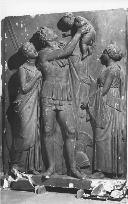 Relief of Hector recommending his son to the protection of the gods