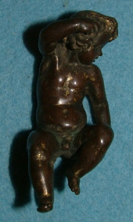 Handle in the form of a putto, probably from an inkstand's lid