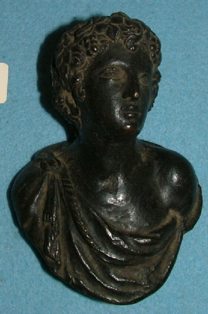 Door handle in the form of a bust of Bacchus