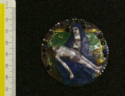 Roundel with Lamentation over the dead Christ