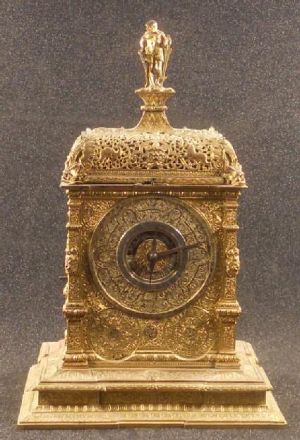 Gilt-brass astronomical table clock