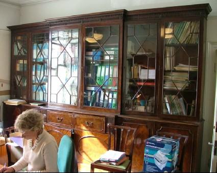 Breakfront Mahogany George III Bookcase