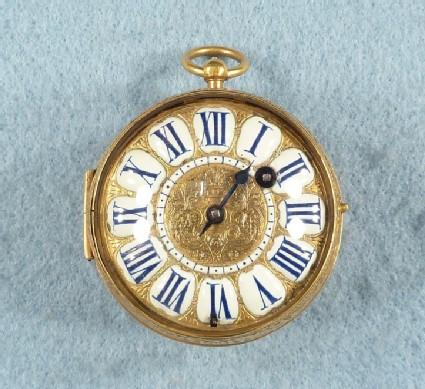 Gilt-brass cased verge watch
