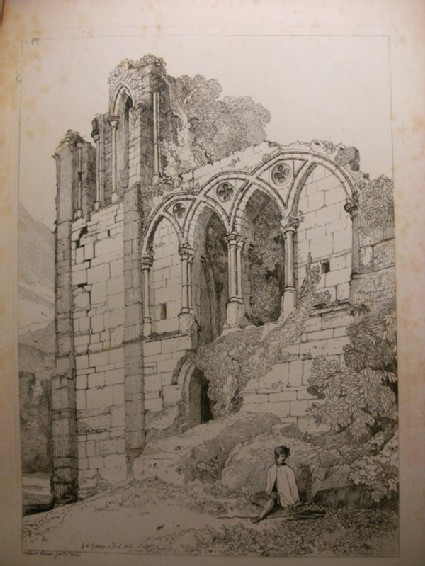 Ruined Abbey with seated Boy (Easeby Abbey, Yorkshire)