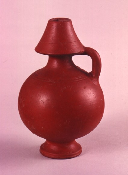 Roman vase of fine dark red pottery