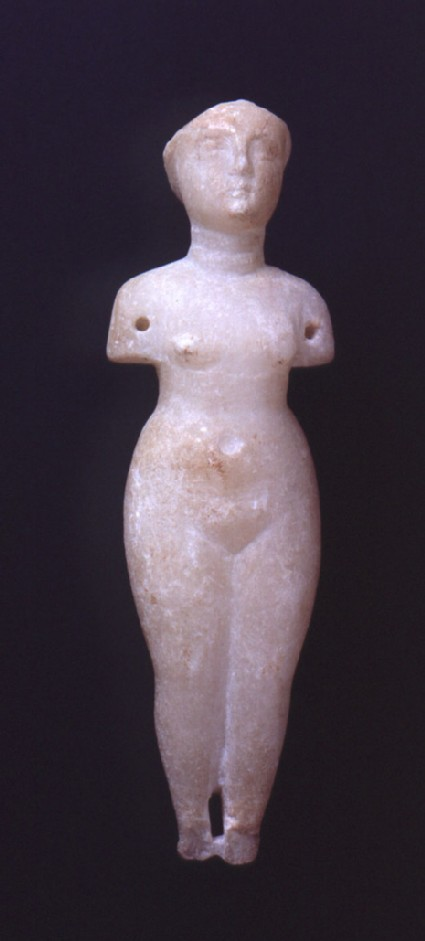 White alabaster statuette of Venus