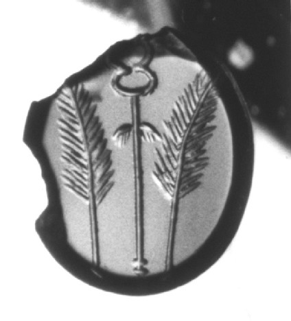 Intaglio gem, palm branches