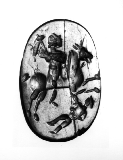 Magical intaglio depicting a cavalier