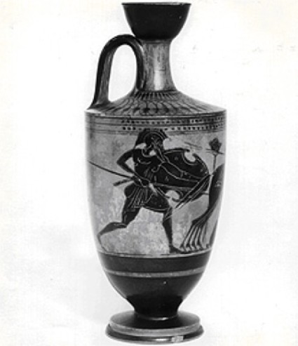 Attic black-figure lekythos depicting a mythological scene