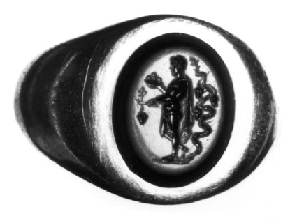 Intaglio gem in finger ring, Bonus Eventus