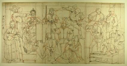 Preparatory sketch for The Biography of Saigō Takamori (EA1999.90)