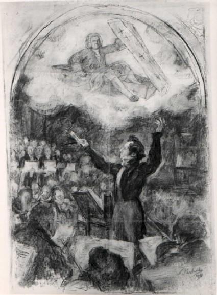 Mendelssohn conducting Bach's St Matthew Passion