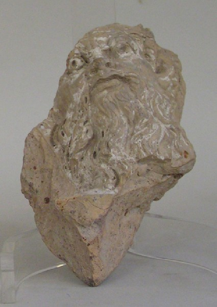 Painted terracotta head of Silenus, perhaps architectural