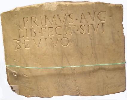 Latin inscription, fragment