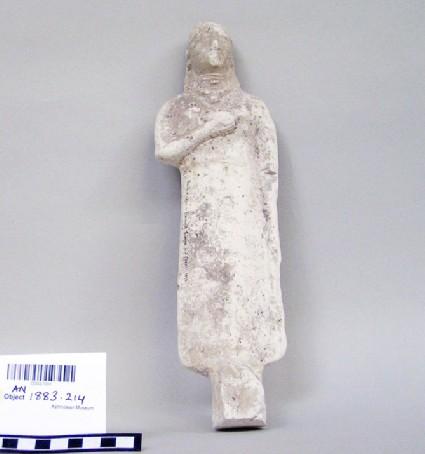 Limestone votive statuette of a female votary
