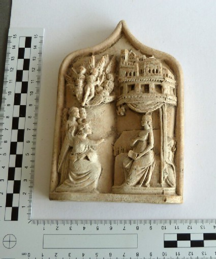 Plaster cast of ivory relief from casket