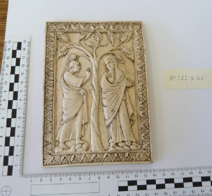 Plaster cast from religious tablet