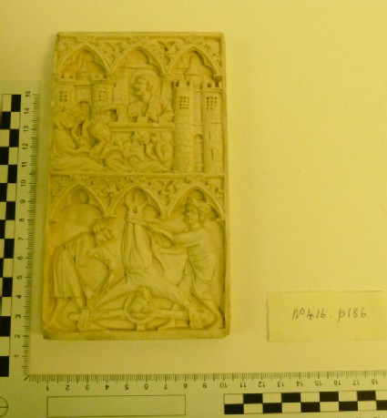 Plaster cast of carved ivory relief