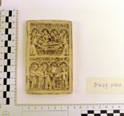 Plaster cast of ivory relief of diptych panel