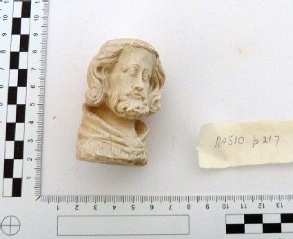 Plaster cast of carved ivory head of the Lord