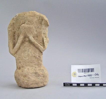 Votary statuette with bird, votive-sculpture
