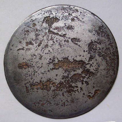 Bronze mirror, plain