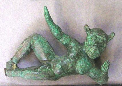 Figure of satyr