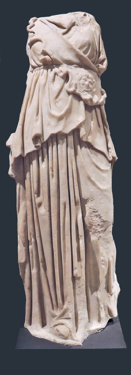 Marble statue of Athena with aegis and Gorgoneion, copy of 4th century BC Greek sculpture