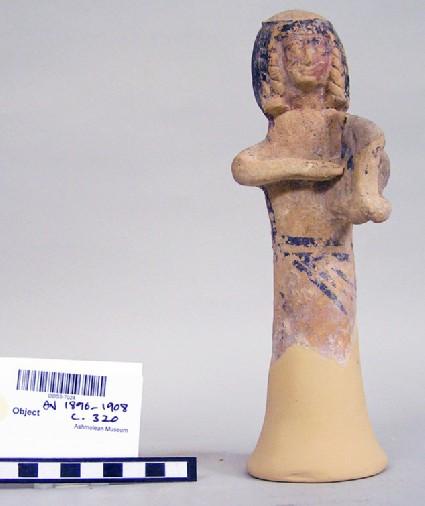 Female lyre player figurine