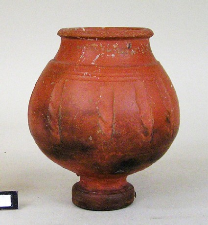 Pottery goblet with impressions of ears of wheat