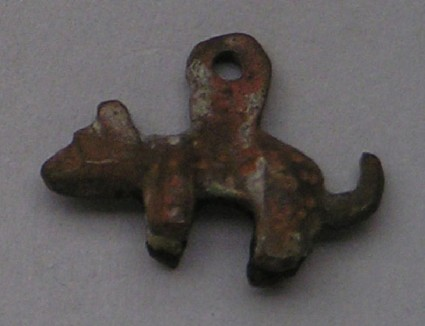 Bronze pendant in the form of a dog