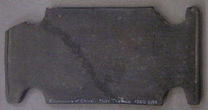 Plaque of bucchero ware