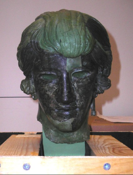 Bronze head of a girl
