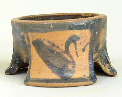 Attic black-figure pottery pyxis