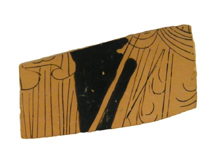 Attic red-figure pottery stemmed cup sherd