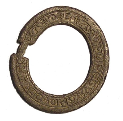 Brooch with inscription