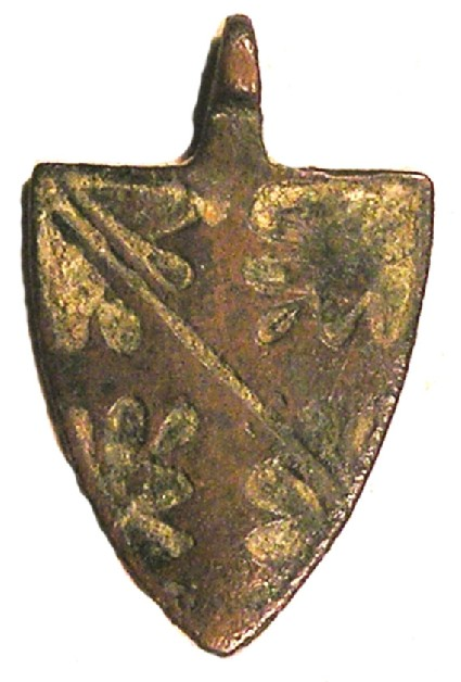 Armorial horse pendant displaying the Arms of Ufford