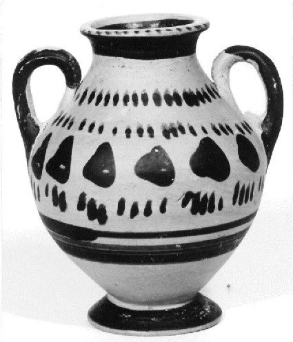 Attic black-figure miniature amphora