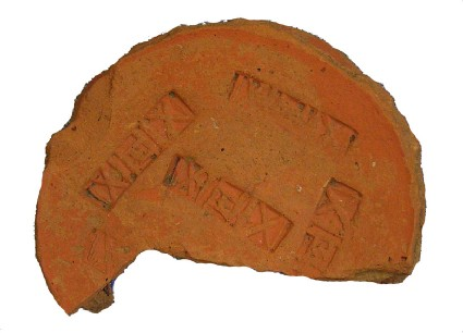 Potter's stamp with crosses and verticals from Woodeaton
