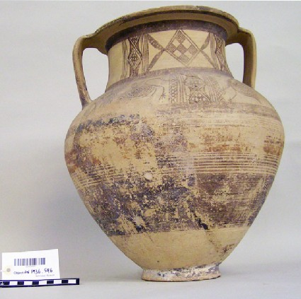 White Painted amphora