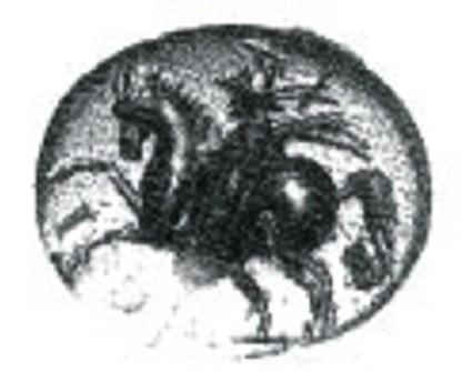 Intaglio gem, horseman