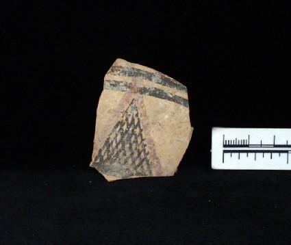 Potsherd, body fragment of White Painted IV-V bowl