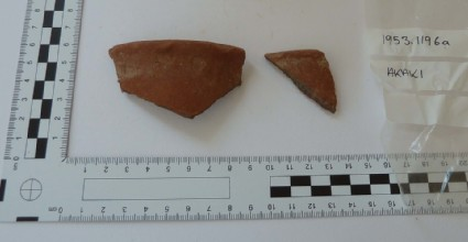 Potsherd, fragment of cooking or kitchen ware vessel