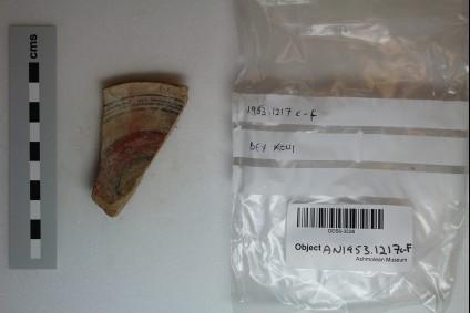 Bichrome II-III bowl, base fragment