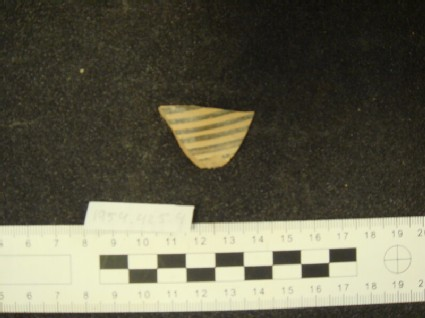Early Proto-Corinthian bird kotyle rim, wall and handle fragment, Wire bird group